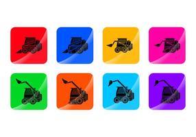 Free Skid Steer Icon Vektor