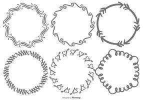 Handdragen Doodle Frames vektor