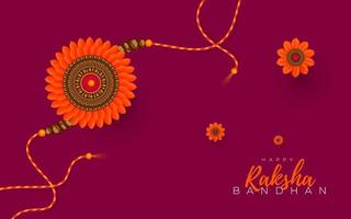 glückliches Raksha Bandhan Design vektor