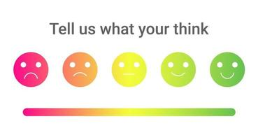 uppsättning färgglada känslor med olika stämningar