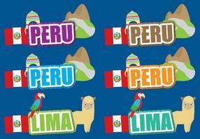 Peru-Titel vektor
