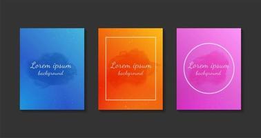 uppsättning färgglada akvarellkort