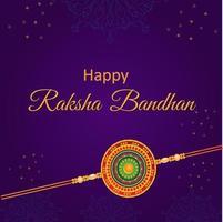 glückliches raksha bandhan indisches Schwester- oder Bruderfest vektor
