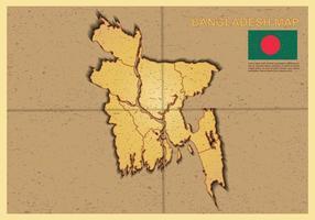 Gratis Bangladesh Kartillustration vektor
