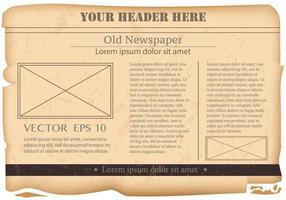 Vintage Old Newspaper Bakgrund vektor