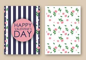 Freier glücklicher Valentinstag-Karten-Vektor vektor