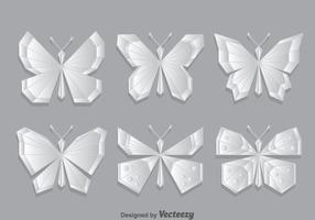 Geometrisk fjäril vektor uppsättning