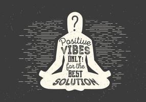 Gratis Meditation Vector Illustration