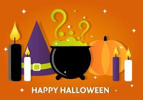 Kostenlose Halloween Vektor Hexe Zubehör