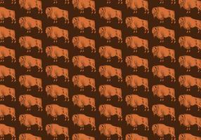 Büffel Nahtloses Muster vektor