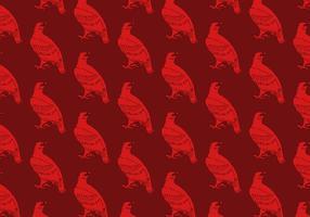 Rödhök sömlöst mönster vektor