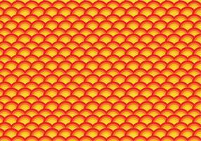 Orange Jakobsmuschel wiederholen Muster vektor