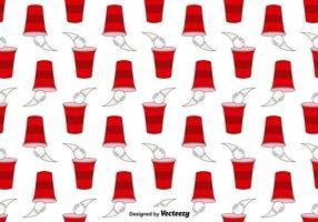 Vektor sömlösa mönster av öl pong spel