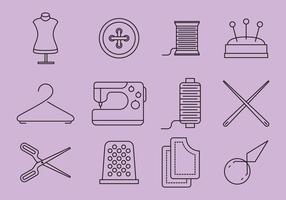 Mode und Nähen Icons vektor