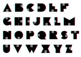 Letras gesetzt: retro vektor