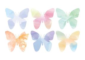 Vektor Aquarell Schmetterlinge