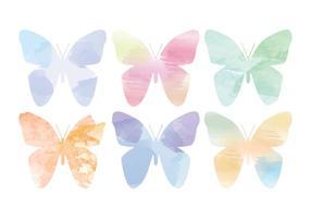 Vektor vattenfärg fjärilar