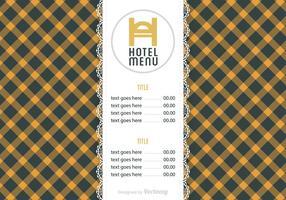 Kostenloses Hotel Menü Vektor Vorlage