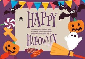 Rolig Färgrik Vektor Halloween Bakgrund