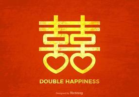 Free Grunge chinesischen Hochzeit Vektor Hintergrund