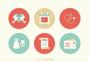Free Flat Hochzeit Vektor Icons