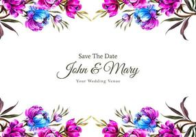 rosa och blå topp- och bottenbröllopskort för bröllop