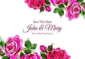 akvarell dekorativa blommor bröllop design