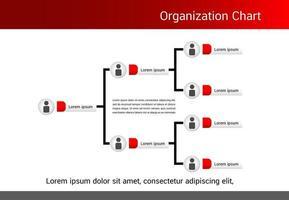 rött och grått organisationsschema vektor