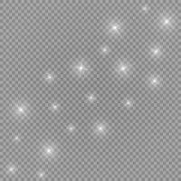 starburst med gnistrar på transparens