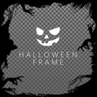 schwarzer Hand- und Ast-Halloween-Rahmen vektor