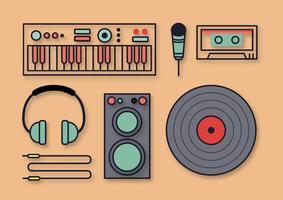 Gratis musikaliska DJ-vektorer vektor