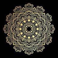 goldenes Herz Mandala