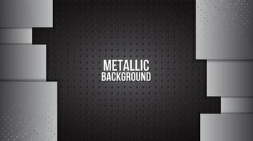 Metallgitterstruktur mit Aluminiumplatten vektor
