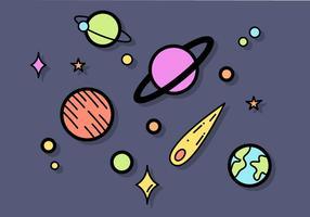 Gratis planeter vektor