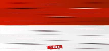 Indonesiens självständighetsdag träplatta dekoration