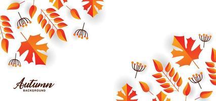 vacker höstdesign med blad och grenar