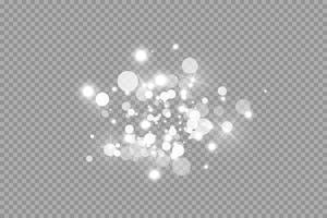 weiße Funken und Glitzer spezieller Lichteffekt vektor