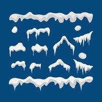 Cartoon-Stil Schneeset vektor