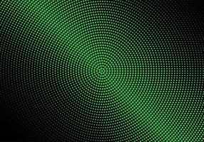 moderna gröna cirkulära halvtonmönster vektor