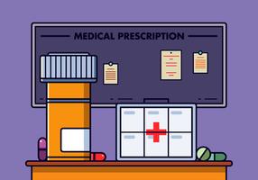 Gratis receptpiller låda vektor