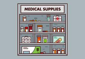 Free Pill Box und medizinische Versorgung Vektor