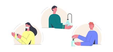 Coronavirus Desinfektion Menschen eingestellt
