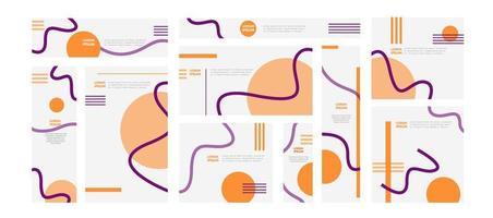 färgglada webbbaner med abstrakta geometriska former vektor