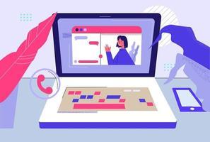 webbkommunikation med släktingar och vänner koncept