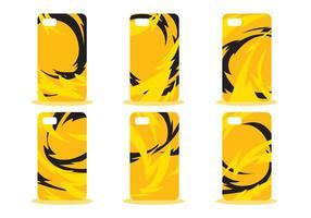 Gelb Abstraktes Telefon Fall Muster Vektor Set