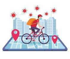 kurir i cykelleverans