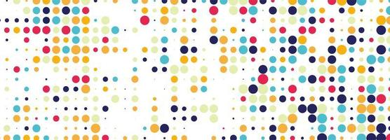 abstrakt färgglad prickad bannerdesign vektor