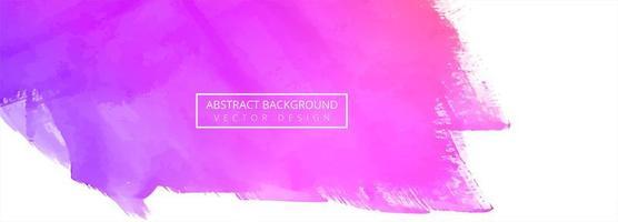 abstrakte hellrosa bunte Aquarellfahne vektor