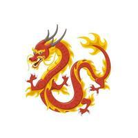 Symbol des chinesischen roten Drachen der Macht und der Weisheit vektor