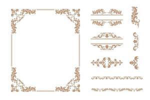 Set klassischer Luxusrahmen und Ornamente vektor